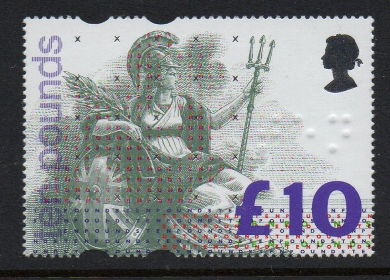 Great Britain Sc 1478 1993 £10 Britannia stamp mint NH