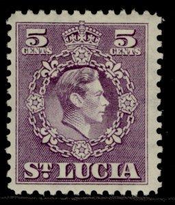 ST. LUCIA GVI SG150, 5c violet, M MINT.