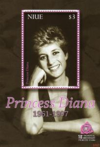 Niue 2007 Sc#823 Princess Diana Tribute 1 Souvenir Sheet MNH
