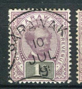 SARAWAK; 1888 early C. Brooke issue fine used 1c. value