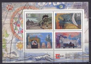 Canada 1107b MNH Explorers, Ship, Map, fish, Capex87