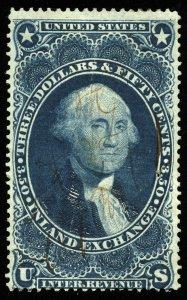 B346 U.S. Revenue Scott R87c $3.50 Inland Exchange, manuscript cancel, CV = $70