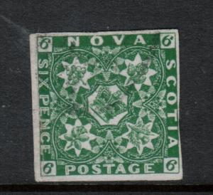 Nova Scotia #5 Very Fine Used With Light Cancel **With Certificate**