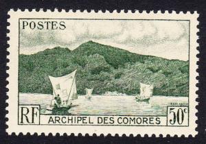 Comoro Is. Boat Anjouan Bay 1v 50c SG#2 SC#31 MI#21