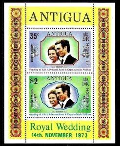 ANTIGUA - 1973 - WEDDING - ANNE & MARK - HONEYMOON - MINT - MNH S/SHEET!