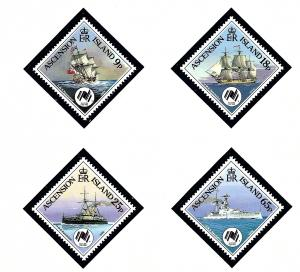 Ascension 444-45 MNH 1988 Ships
