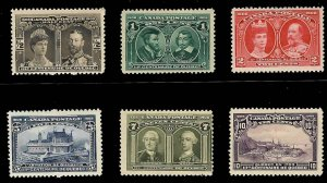 Canada #96 to 101 Mint VF LH C$785.00 Quebec Tercentenary Issue