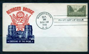 UNITED STATES 1945 ARMY REMAGEN BRIDGE CACHET  FIRST DAY COVER
