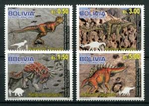 Bolivia 2012 prehistoric animals dinosaurs set MNH