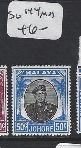 MALAYA JOHORE   (PP1605B)  SULTAN 50C   SG 144    MOG