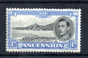 Ascension Island KGVI 1938 3d black ultramarine mint LHM Perf 13.5 SG42 WS13185
