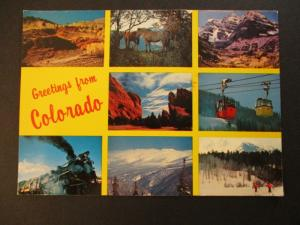 1982 Greeting from Colorado to Alberta Canada Postcard Cover