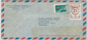 78986 - CHILE - Postal History - Overprinted stamp on COVER 1975 - MINING Copper