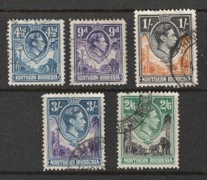 Northern Rhodesia x 5 used KHVI