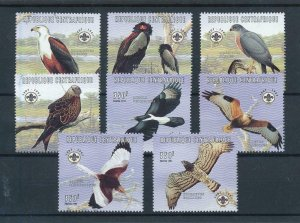 [102981] Central African Republic 1998 Birds of prey scouting  MNH