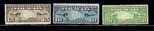 U.S. C7-9 MNH 1926-27 airmail issues