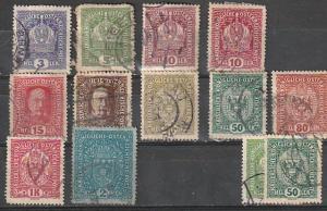 #145-6,148,150,151,154,155,157,159-60 Austria Used
