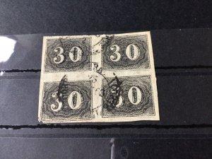 Brasil 1850 imperf stamps block Ref 56414