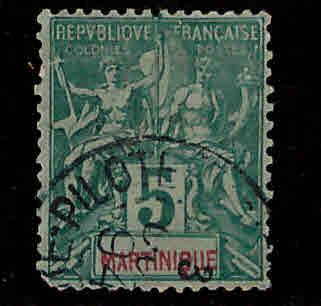 Martinique Scott 36 used 1892 stamp