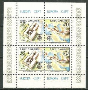 1982 Turkey 2223a Europa Cept MNH S/S SCV$7.00