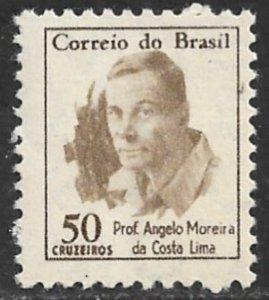 BRAZIL 1965-66 50cr PROF. ANGELO MOREIRA DA COSTA LIMA Issue Sc 989A MNH
