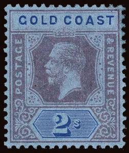 Gold Coast Scott 73a-78a Gibbons 77e/82f Mint Stamp