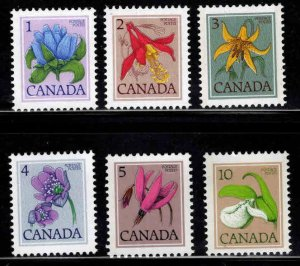 Canada Scott 705-711 Unused Flower stamps