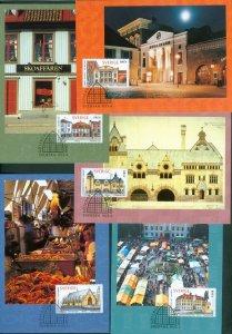 Sweden. Maximum Card 1998.Complete Set 5 Card. Swedish Houses.