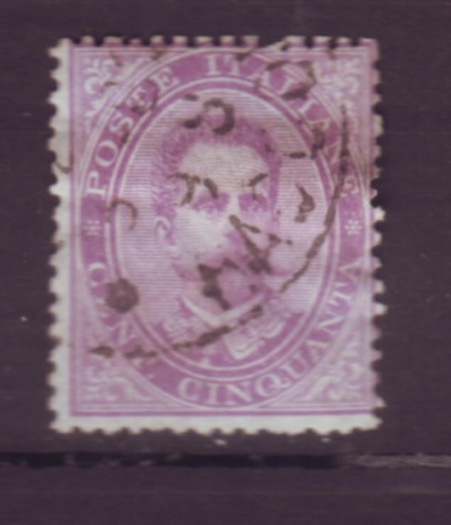 J20296 jlstamps 1879 italy used #50 king