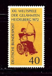 Germany 1092 MNH 1972 Handicapped Archer