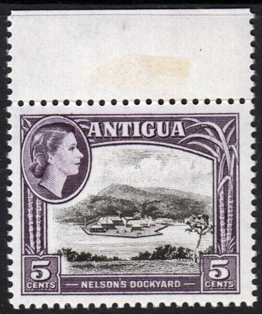 Antigua QEII 1953 5c Black Slate-Lilac SG125 Mint Never Hinged MNH UMM