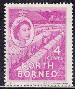 North Borneo 264 USED 1955 Drying Hemp