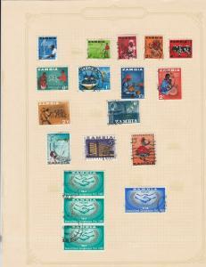 zambia stamps sheet ref 17763