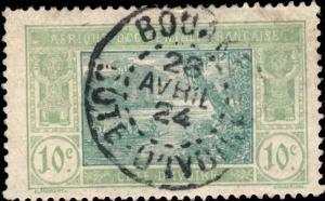 CÔTE-D'IVOIRE - 1924 - CAD BOUAKE / COTE-D'IVOIRE DOUBLE CERCLE SUR N°63