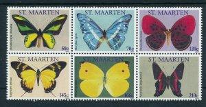 [SM010] St. Martin Maarten 2011 Butterflies MNH