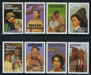 Lesotho Scott 817-824 Mint Hinged - Movies