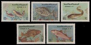 Syria MNH MI 1403-7 Fish Marine Life 1978