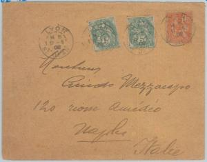 75198 - FRANCE - Postal History -    COVER to ITALY 1902