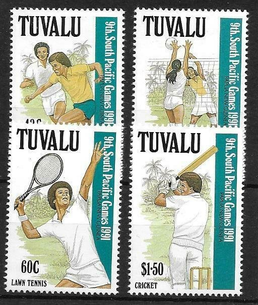 1991   TUVALU  -  SG.  609 / 612  -  SOUTH PACIFIC GAMES  -  MNH