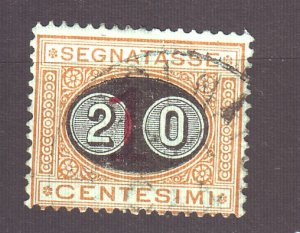 J22612 Jlstamps 1890-1 italy used #j26 ovpt postage due