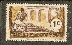 French Equatorial Africa Scott 33  Logging   MNH