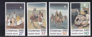 Norfolk Island, # 373-376, Christmas, NH, 1/2 Cat.
