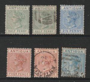 Antigua x 6 later QV 4 U 2 MH