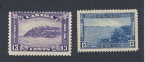 2x Canada Stamps  #201-13c MH F  #242-13cMMH VF Guide Value = $50.00