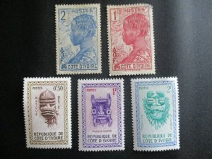 Ivory Coast, 5 Stamps, MH