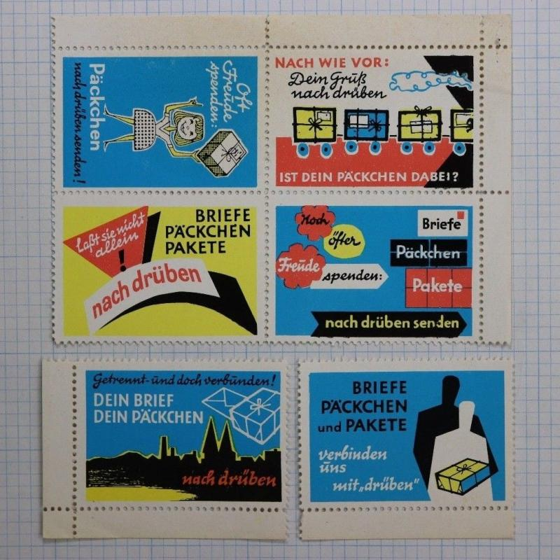 German Postal Parcel package Poster charity ad Donate recycle reuse packaging?
