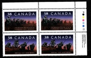Canada-1250ii 38c Princess Patricia  inscription blk UR-unused NH-Military-