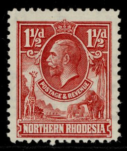 NORTHERN RHODESIA GV SG3, 1½d carmine-red, M MINT.
