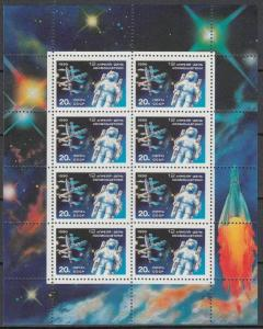 Russia - 1990 Space Cosmonauts' Day M/S Sc# 5883 (909N)