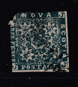 Nova Scotia a used imperf 3d from 1851